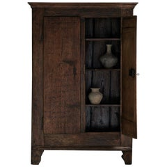 Outstanding 18th Century Northern Italian Cabinet with Remains of Original Paint