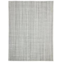 Transitional Gray Area Rug with Swedish Gustavian Style, Texture Area Rug