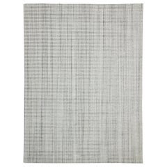 New Transitional Gray Area Rug with Swedish Gustavian Style, Texture Area Rug