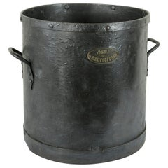 French Iron Grain Measure, Planter, or Cachepot with Handles, circa 1900