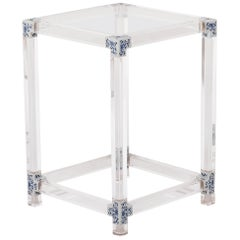 Blue and White Invisible Side Table by July Zhou