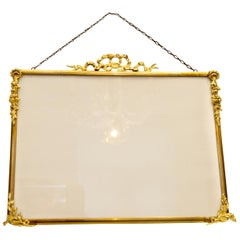 French Louis XVI Style Brass and Bronze Picture Frame