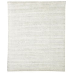 New Transitional Light Gray Area Rug with Scandinavian Modern Nordic Style