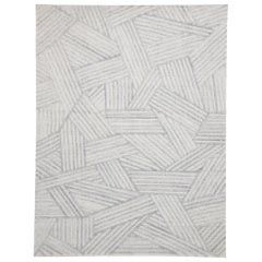 Contemporary Area Rug with Bauhaus Style, Texture Area Rug