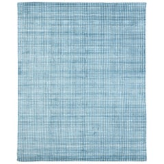 Contemporary Beach Style Area Rug with Grid Pattern and Coastal Living Style