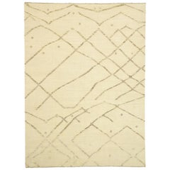 Contemporary Moroccan Rug with African Tribal Style, Texture Area Rug