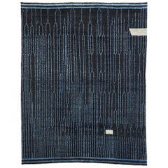 New Contemporary Moroccan Area Rug with Dark, Sultry Luxe Style