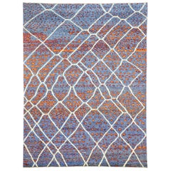 Contemporary Moroccan Area Rug with Postmodern Style