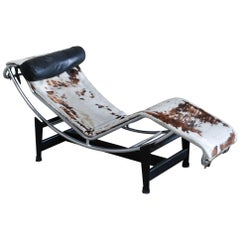 Le Corbusier LC4 Pony Leather Chaise Longue by Cassina, 1970s