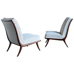 T.H. Robsjohn-Gibbings Slipper Chairs for Widdicomb