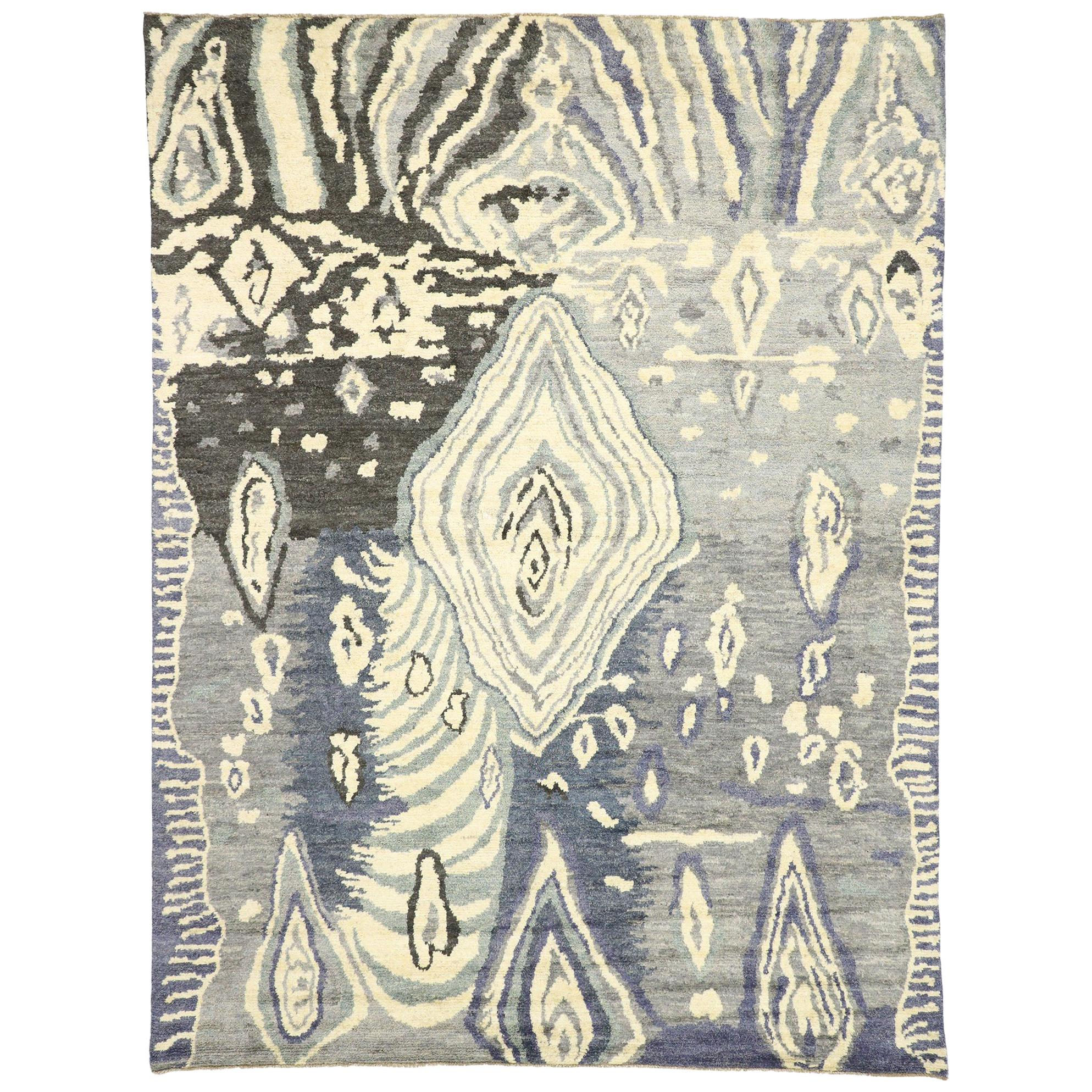 New Contemporary Moroccan Style Area Rug After Georgia Ou0027Keeffe