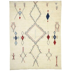 Contemporary Moroccan Style Area Rug with Modern Tribal Lodge Style