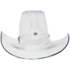 Blenko Glass Cowboy Hat Sculpture Bowl