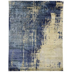 Contemporary Area Rug with Abstract Expressionist and Grunge Art Style