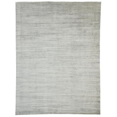 New Transitional Gray Area Rug with Scandinavian Modern Nordic Style