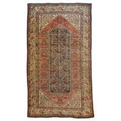 Antique Persian Meeshan Malayer Carpet circa 1880 in Pure Handspun Wool