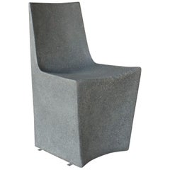 Cast Resin 'Stone' Dining Chair, Gray Stone finish by Zachary A. Design