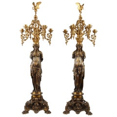 Pair of Neo-Greek Candelabras by L.C. Sévin and F. Barbedienne