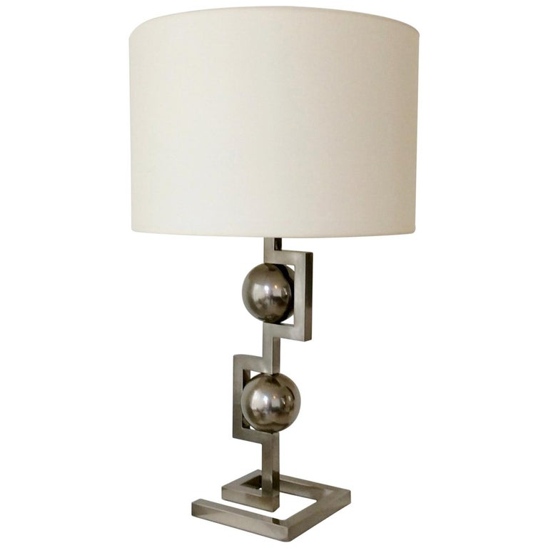 Impressive Geometrical Table Lamp, circa 1970, Italy 1