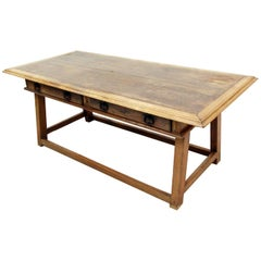 Antique Industrial Dining Table Old Wood Solid Wood Factory Design Table