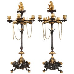 Pair of Neo-Greek Candelabras Attributed to V. Paillard