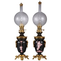 Fine Pair of Neoclassical Lamps
