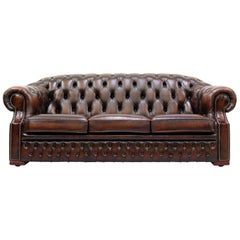 Chesterfield Centurion Sofa Leather Antique Vintage Couch, English