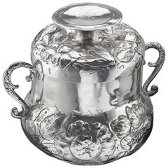 Pear Shaped Charles II Silver Caudle Cup and Cover