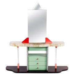 Unique Postmodern Vanity Desk, Italy, circa 1980