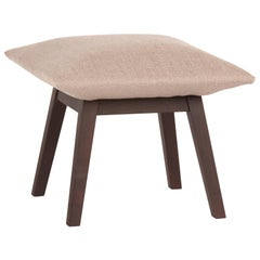 'NINA' Scandinavian Style Low Stool in Pastel Color with Solid Wood Structure