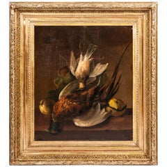 19th Century Pair of Still Lifes Oil on Canvas Paintings