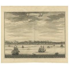Antique Print of Samboepo by Valentijn, 1726