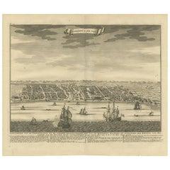 Antique Map of Samboepo by Valentijn, 1726