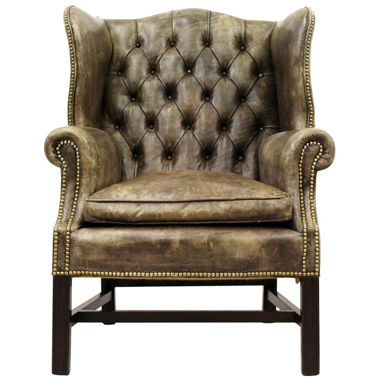 Chesterfield Armchair Wing Chair Antique Chair For Sale At 1stdibs