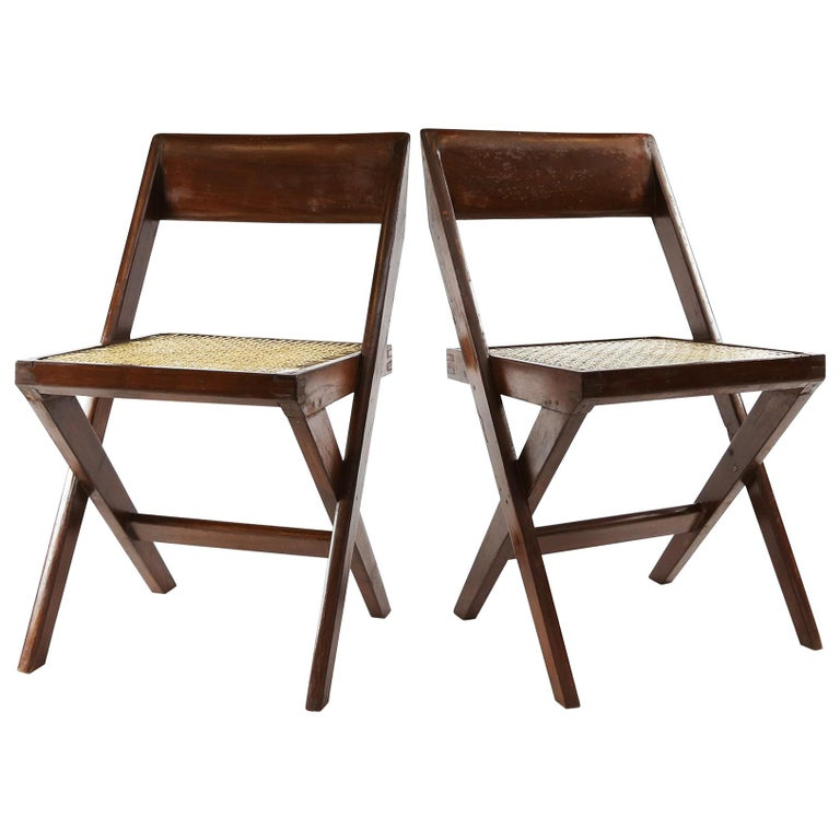 Pierre Jeanneret Library Chairs from Chandigarh, 1960s For Sale