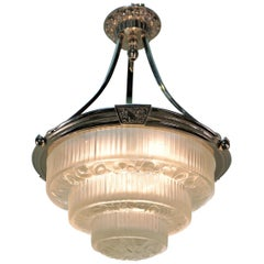 French 1920s Art Deco Chandelier