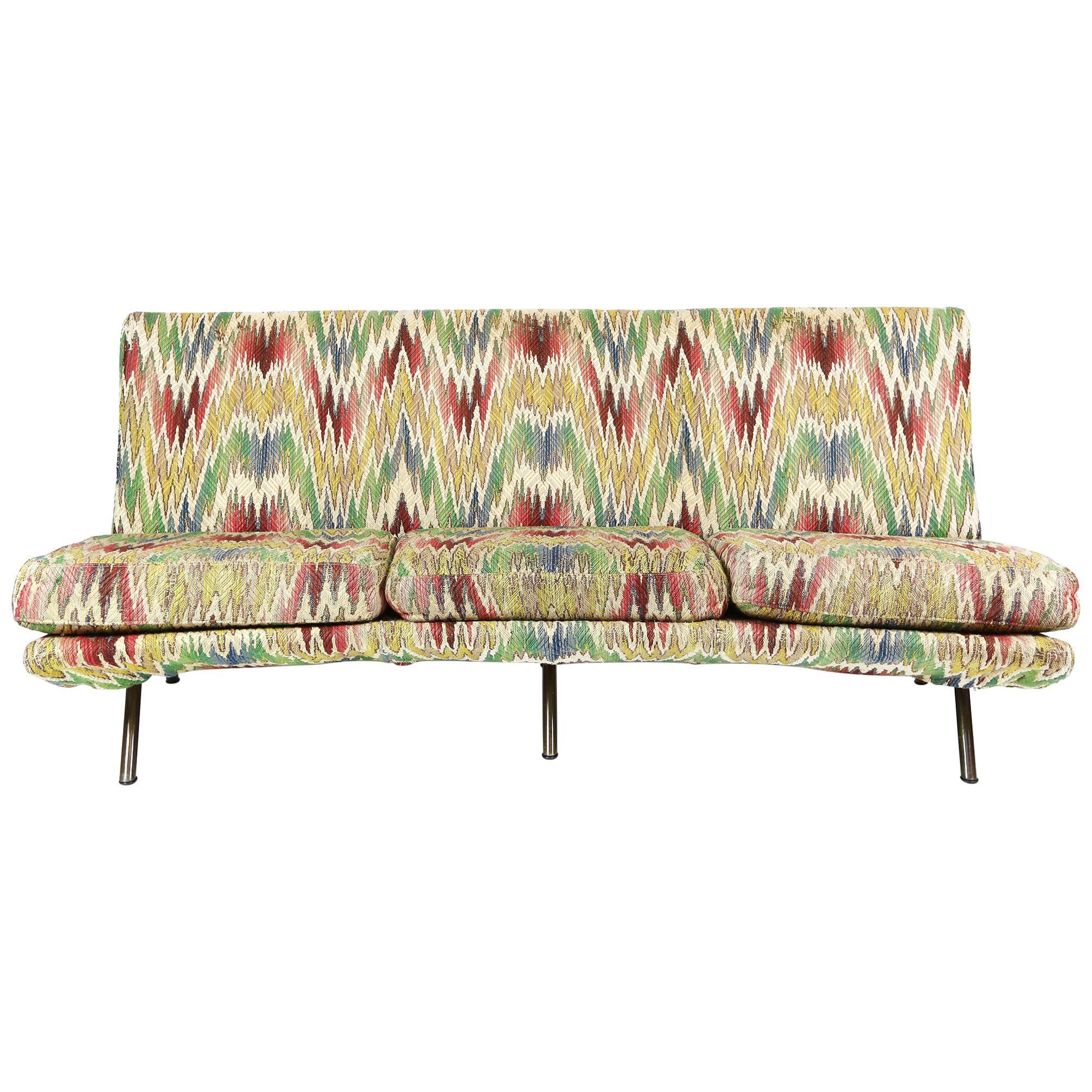 Marco Zanuso Three-Seat Triennale Sofa for Arflex, Italy, 1950s