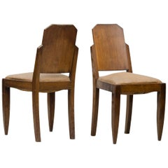 Art Deco Dining Chairs Set of Four