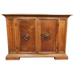 18th Century Antique Little Cabinet in Walnut, Period 1700, from Umbria 'Italia'