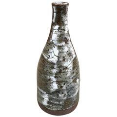 Geneviève Baptendier, Small Sandstone Vase of Saint Amand de Puisaye, Signed