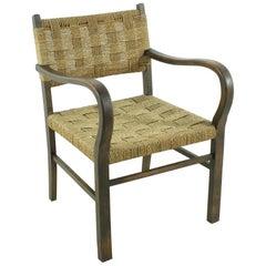 Vintage Wicker Armchair, circa 1960s