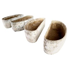 Willy Guhl Crescent Shaped Planters