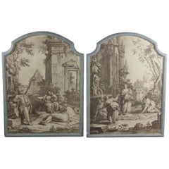 Pair of French Grisaille 'Papiers Peints' Panels