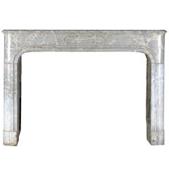 17th Century Louis XIV French Vintage Marble Stone Antique Fireplace Mantel