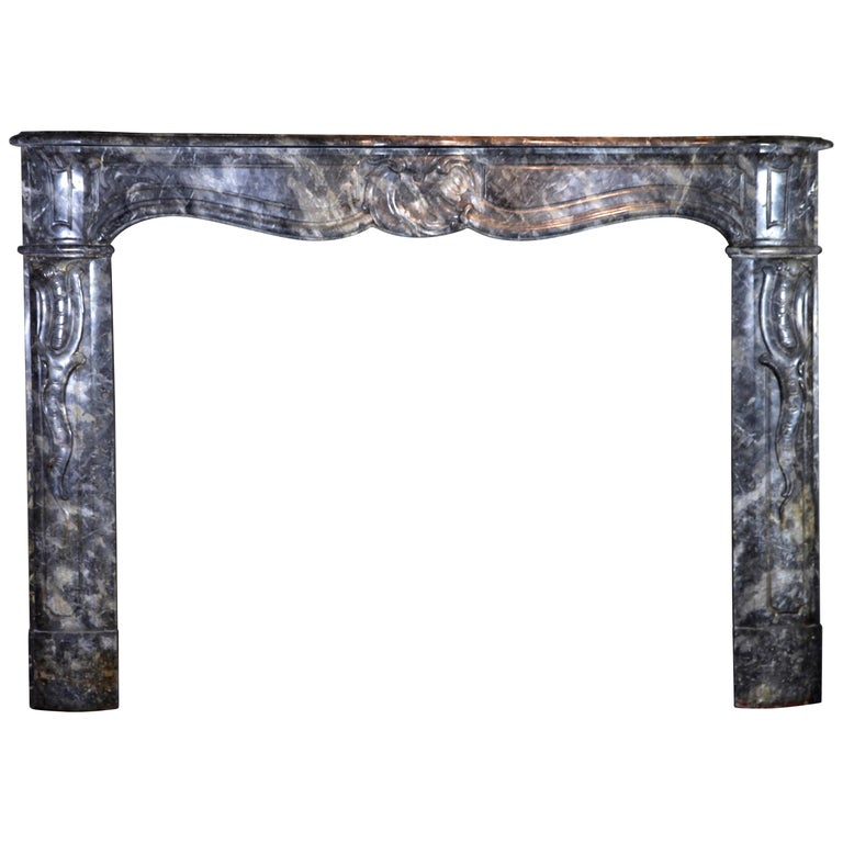 18th Century Grey Marble Fine Antique Regency Fireplace Surround For Sale