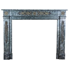 18th Century Fine Fireplace Mantel with Bespoke Brass Bijouterie