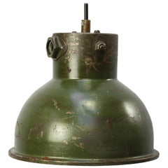 Green Metal Vintage Industrial Pendant Light