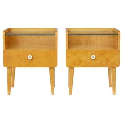 Pair of 1960s Birch Bedside Tables