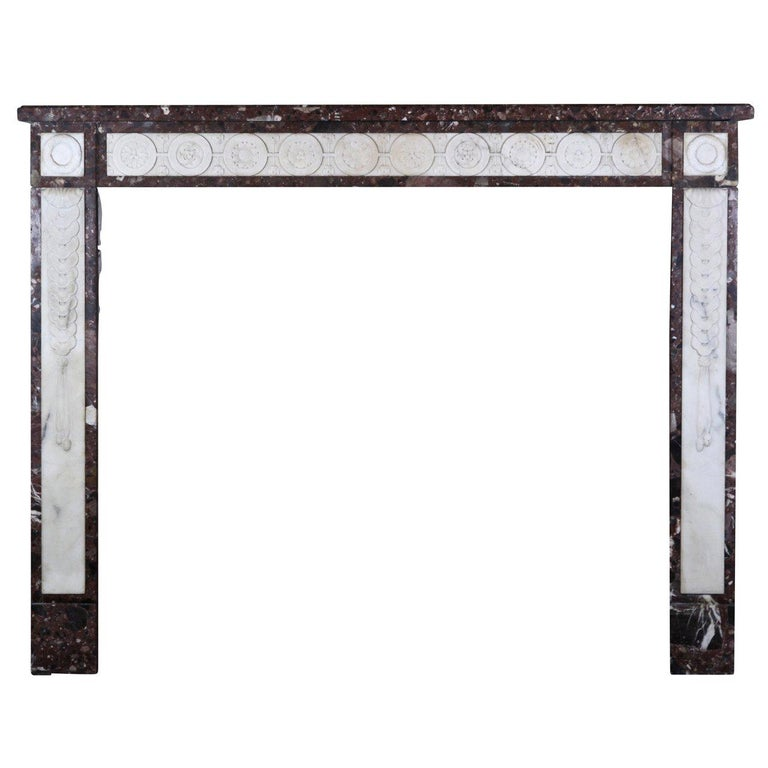 18th Century Directoire Period Fine French Antique Fireplace Mantel For Sale