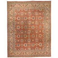 Red Antique Persian Tabriz Carpet